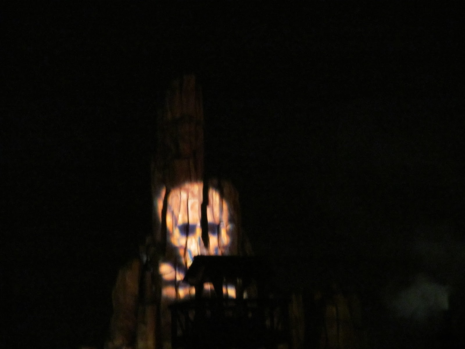 The View of Thunder Road Mountain during Mickey's Not So Scary Halloween Party - www.ouroutdoortravels.blogspot.com