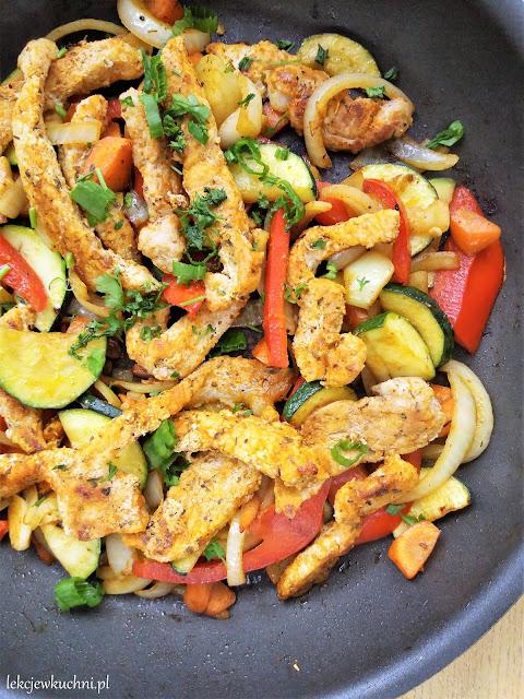 Szybki schab z warzywami / Quick Pork Vegetable Skillet