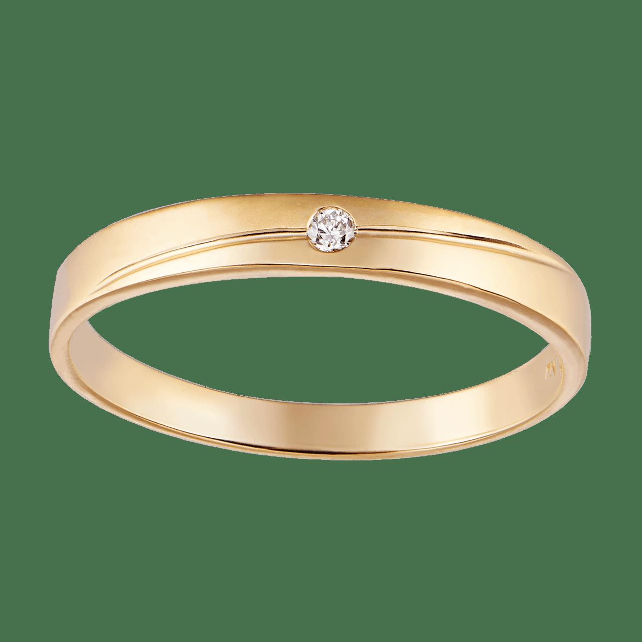 Nhẫn cưới Kim cương Vàng 18K PNJ DD00Y000510