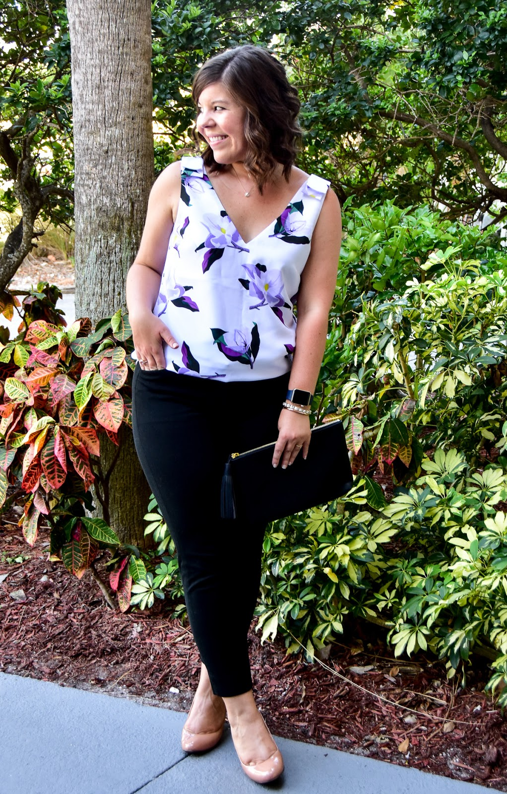 Workweek Chic: Banana Republic Floral Top