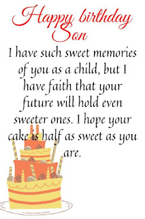 happy birthday wishes for son from mom image