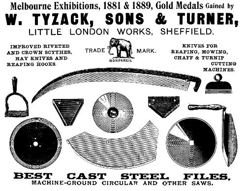Tyzack, Sons and Turner Ad, 1900