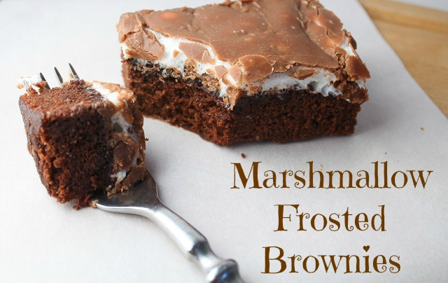 MARSHMALLOW FROSTED BROWNIES