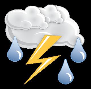 simbol cuaca hujan badai petir