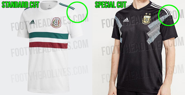1f10d8f14e4 Argentina   Japan 2018 World Cup Away Kits Feature Special Cut. +1. 2 of 2.  1 of 2