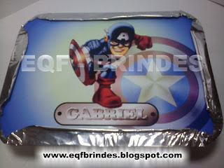 marmitinha capitão américa, lembrancinha super herói, brinde super herói, tema capitão américa kid