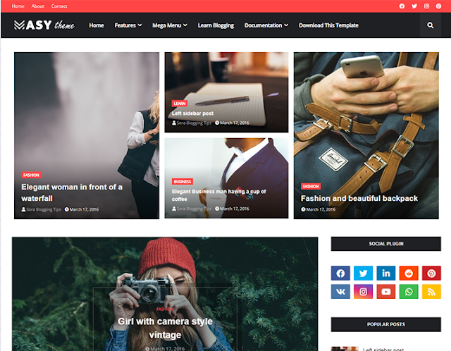 Masy Blogger Template