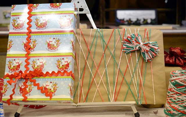 how to wrap gifts, gifts with ric-rac, gift ideas with string