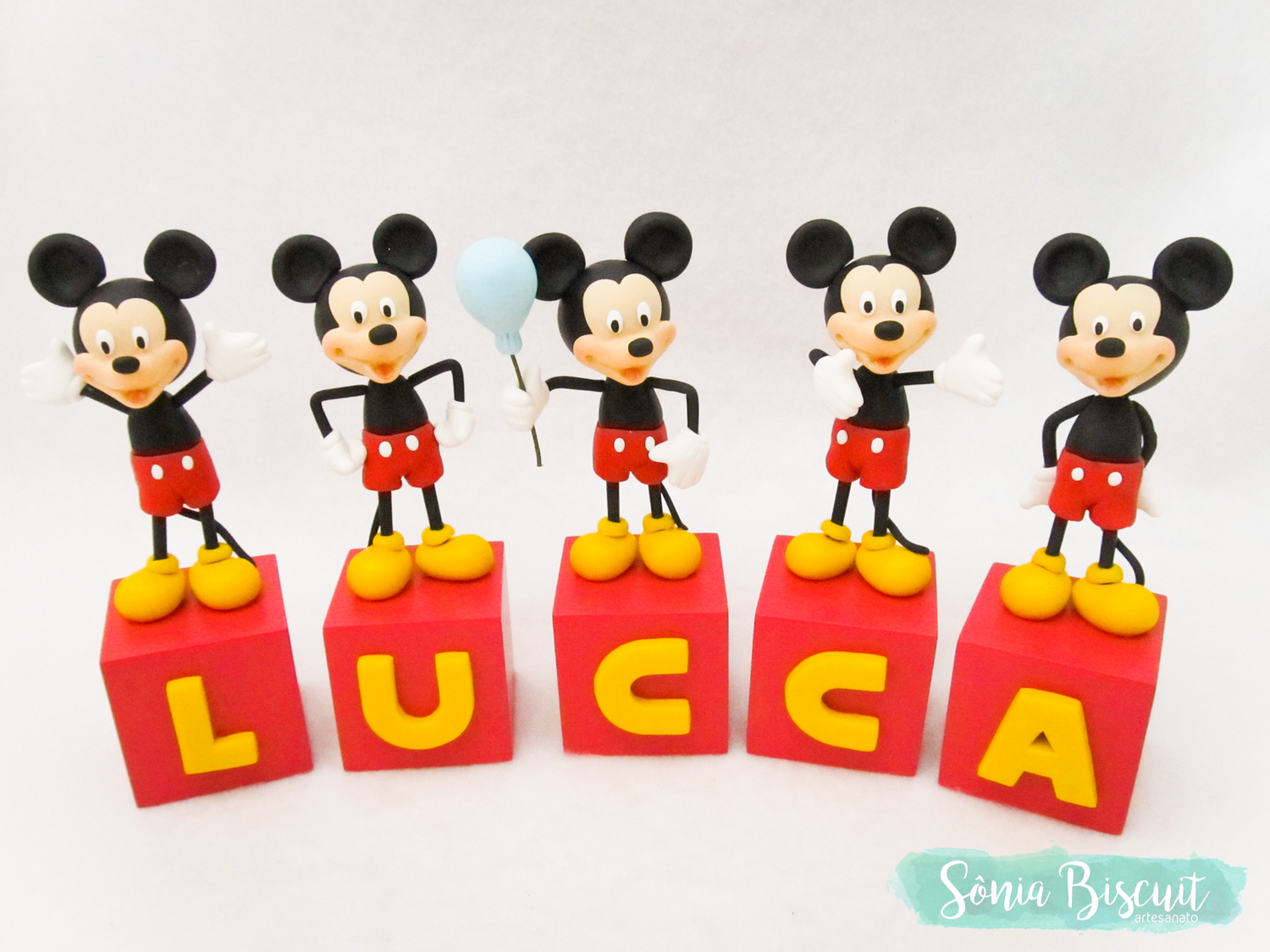 Cubos, Cubos Decorativos, Biscuit, Mickey, Sonia Biscuit