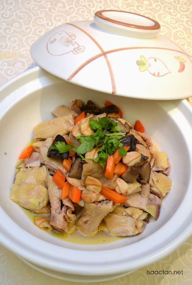 Steamed Village Chicken with Dried Seafood and Chinese Herbs