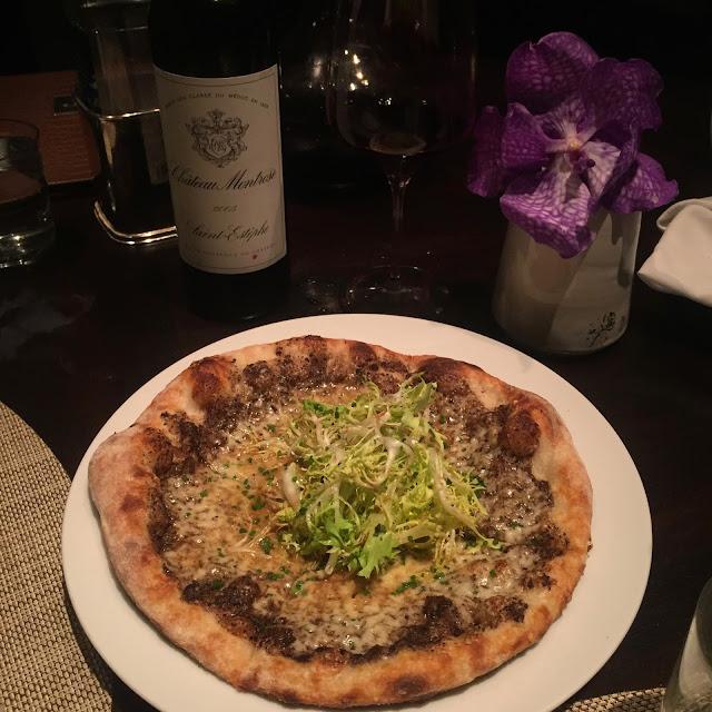 Black Truffle Pizza - Jean George JG Grill Miami St. Regis Bal Harbour