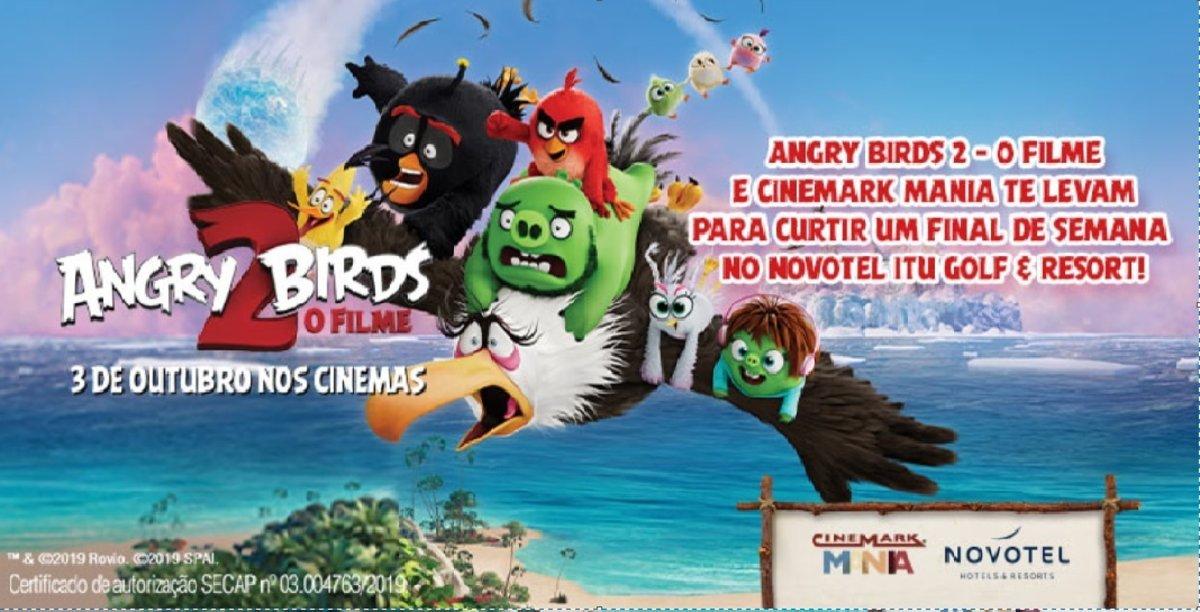 Participar Promoção Angry Birds 2 Cinemark Concorra Viagem com a Família
