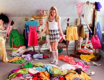 Muitas roupas, poucas opções. Oposto do armário cápsula.