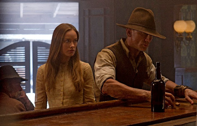 'Cowboys and Aliens' (2011). Daniel Craig plays a stranger seeking the truth of who he is in this 2011 sci-fi. Text © Rissi JC