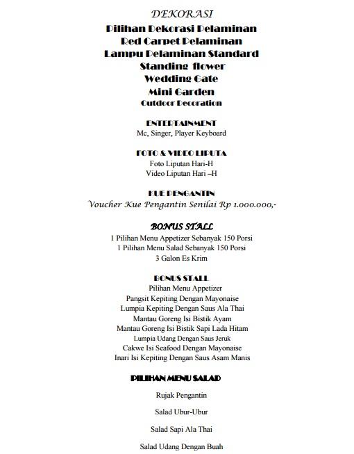 Semua ceritaku dan ceritamu my wedding preparation diary part 3 price list if you have a concept for garden party i think you can choose bandar jakarta from your wedding venue list lol junglespirit Choice Image