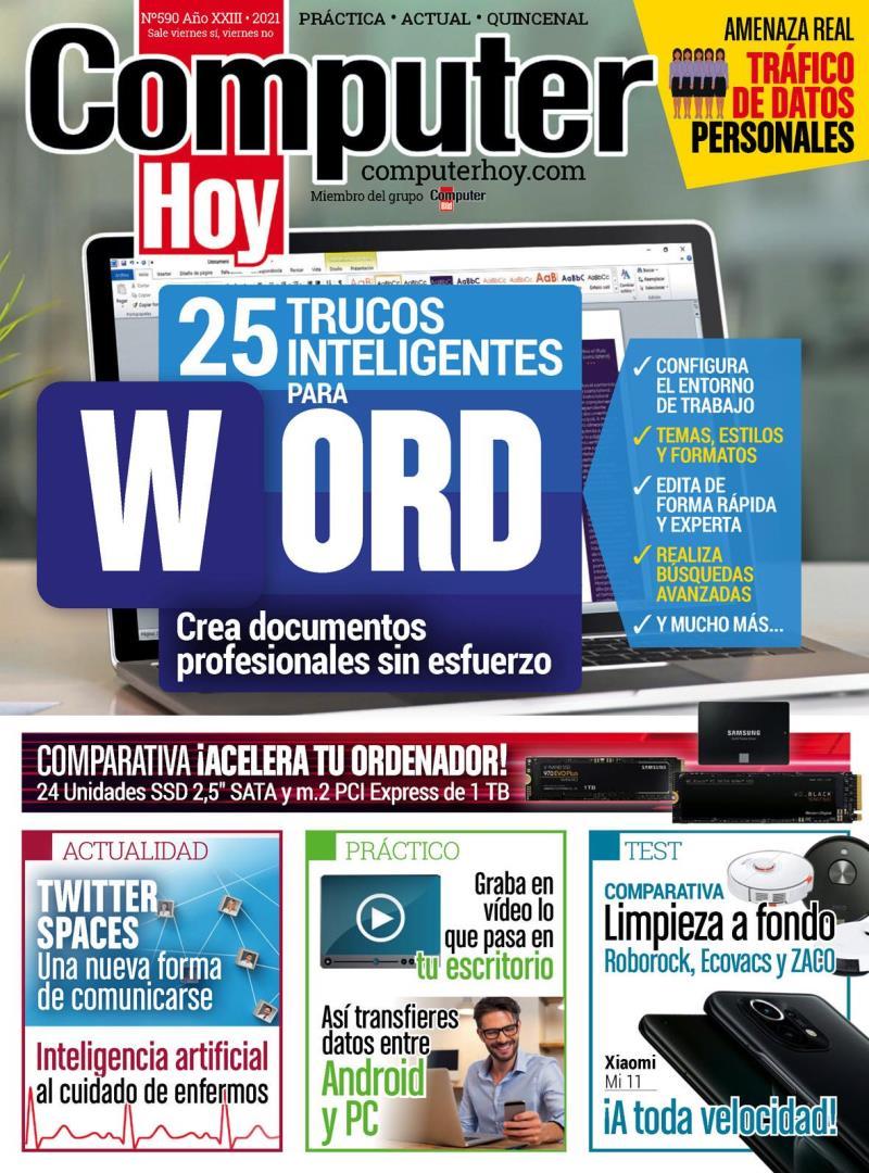 Computer Hoy Nro. 590: 25 Trucos inteligentes para Word – 2021
