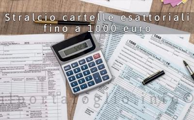 cartelle esattoriali sotto i mille euro