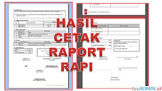 Print Cetak Raport K13 SD Rapi