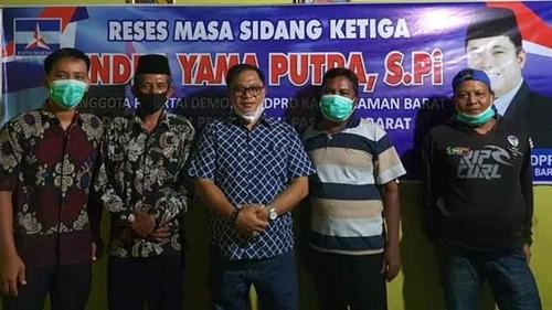 Walau Pandemi, Wakil Ketua DPRD Pasbar Gelar Reses Ketiga di Simpang Tiga Bedeng