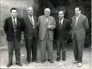 Mestres: J. Martínez, F. Perucho, J. Ardébol (director), D. Lapeña i J.R.Montía