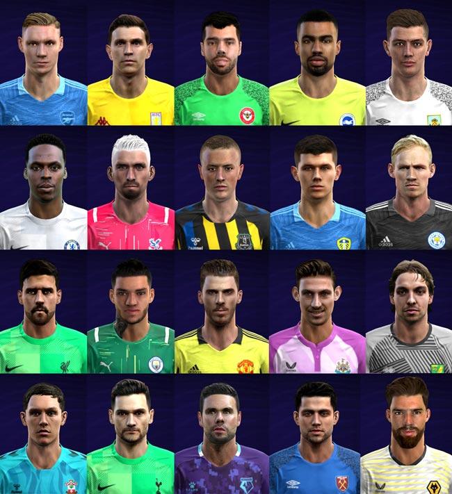 Facepack Goalkeeper EPL 2021-2022 For PES 2013