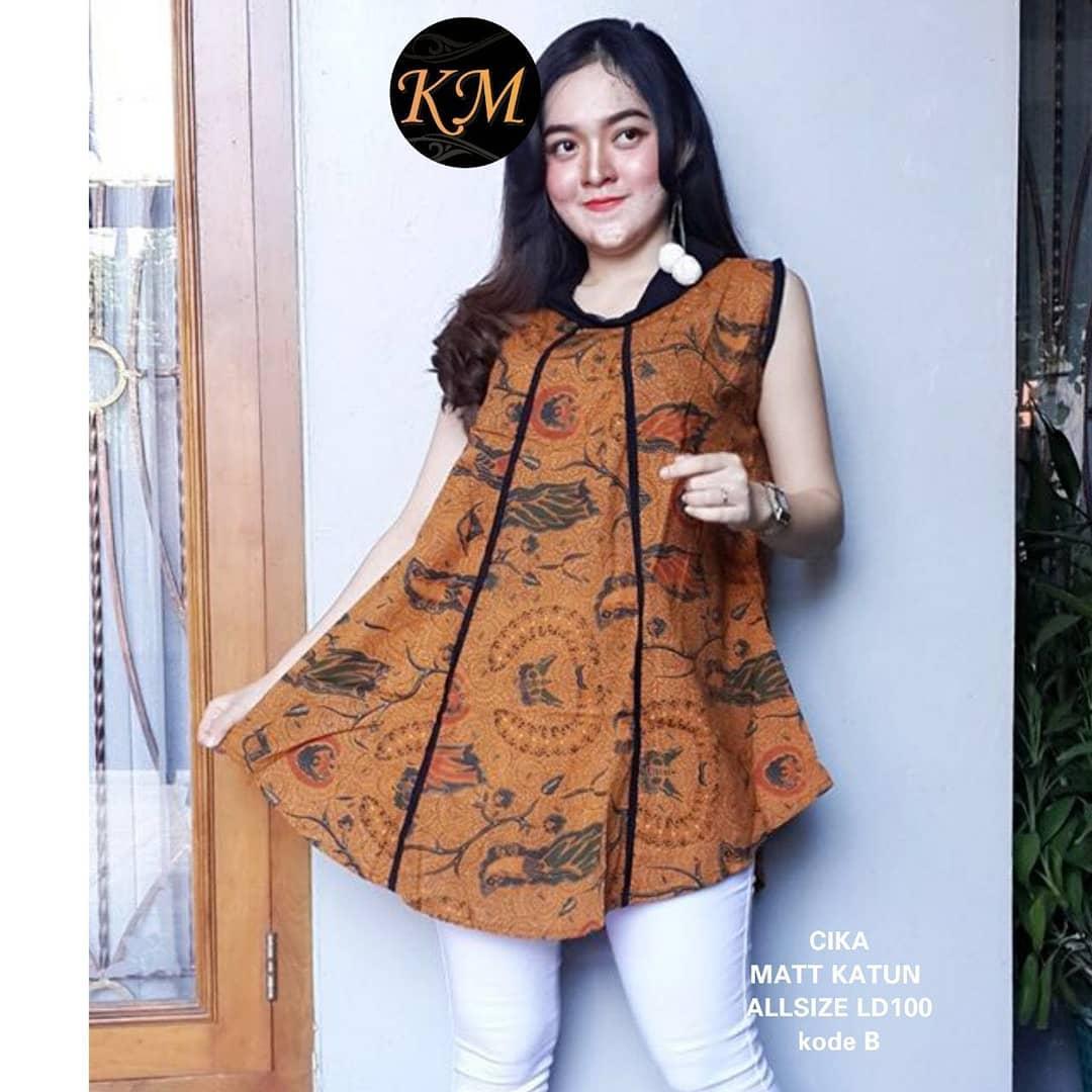 Contoh Baju Blouse Batik Kerja Wanita Baju Batik Kantor Rok Batik