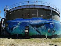 Painted Water Tank in Peque_VRS   Katoomba Street Art