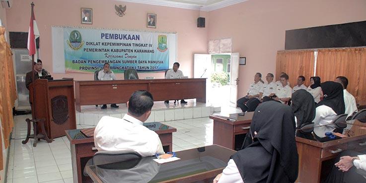 Diklatpim Tingkat IV Angkatan I di Lingkungan Pemerintah Kabupaten Karawang, yang diselenggarakan di Kampus Diklat Kabupaten Karawang.
