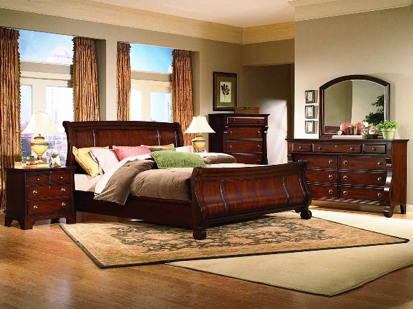 queen cherry wood bedroom furniture sets under 500