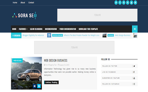 Best SEO Blogger website Templates Free Download From Nayeem Templates