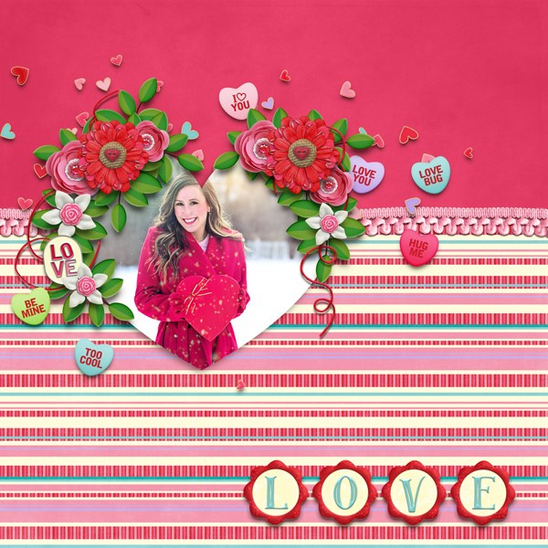 Simply Sweet Templates and Charmed Love from Clever Monkey Graphics