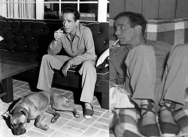 Humprey Bogart wearing espadrilles #humpreybogart #espadrilles #mensvintagefashion