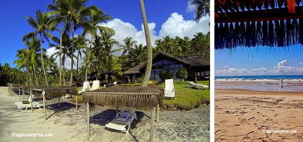Estrutura de praia do Itacaré Eco Residence na Praia de São José