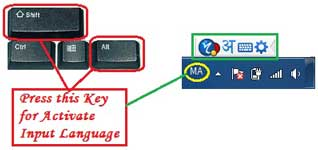 Key Press for Activate Input language