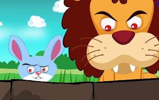 Lion and Rabbit Story In Marathi Written