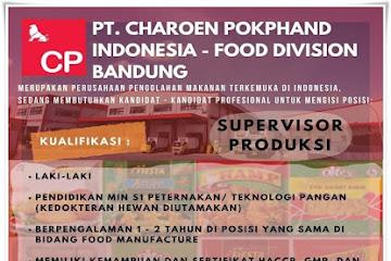 Lowongan Kerja Supervisor Produksi Charoen Pokphand