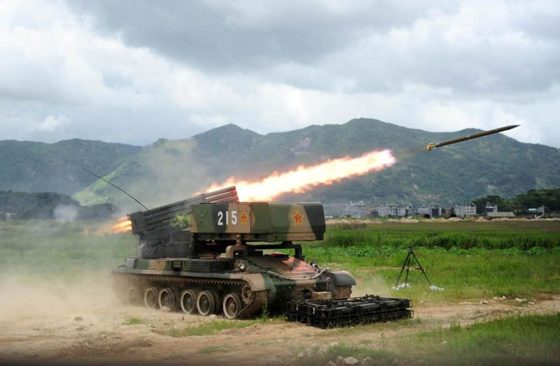 The PHZ89 122mm Multi-Barrel Rocket Launcher   Chinese