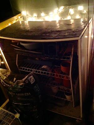 """Old Ikea Dresser Turned Garden Storage """"Shed"""""""