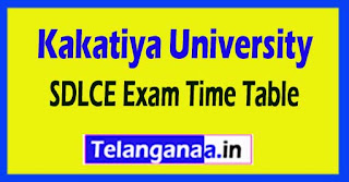 KU SDLCE Degree Supply 1st year Time Table 2017