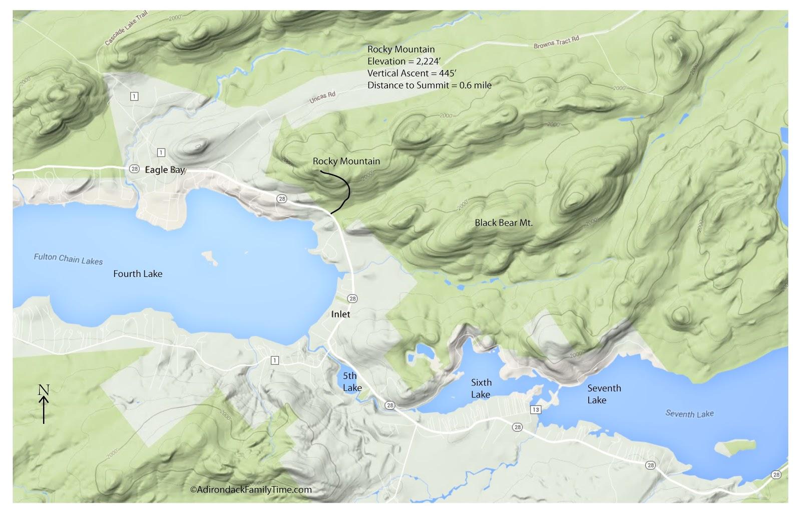 Easy Short Adirondack Hike: Inlet (NY) Rocky Mountain (just