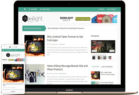 Bomilight Blogger Template