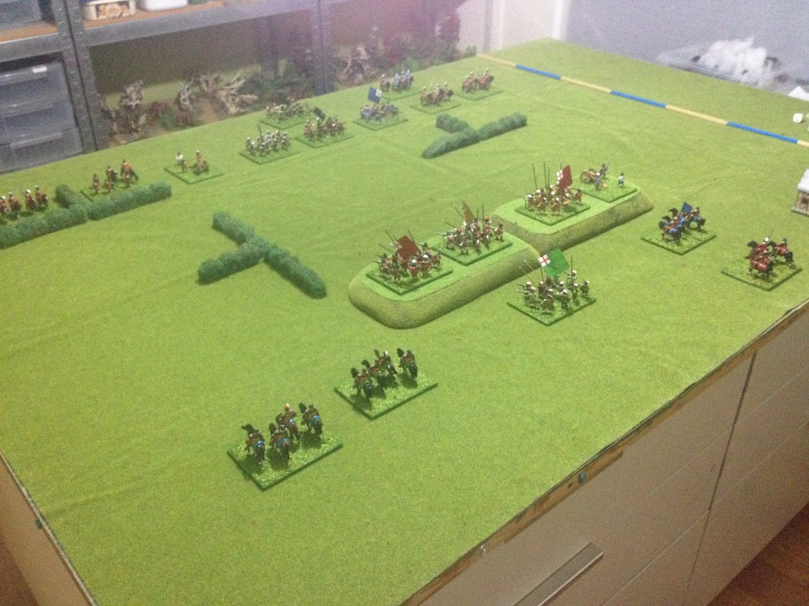 Grid based wargaming - but not always: English Civil War game