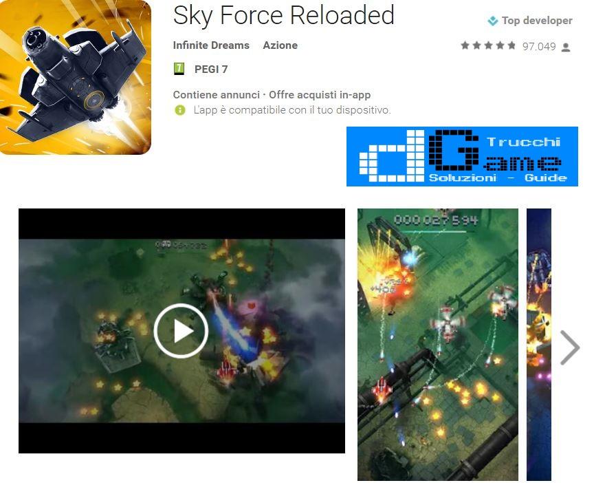 Trucchi Sky Force Reloaded Mod Apk Android v1.82