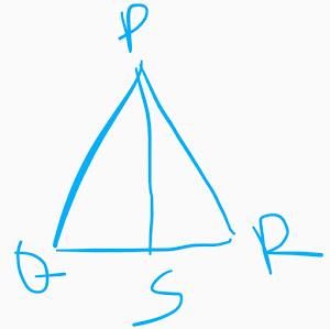 প্রমাণ কর যে, PQ+PR  >2PS