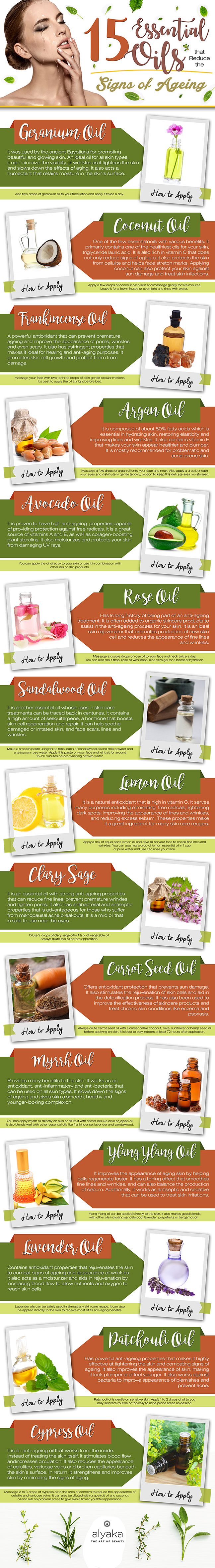 Anti-Ageing Essential Oils that You Should Start Using #infographic