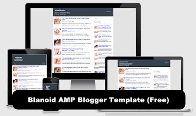 Blanoid AMP Blogger Template (Free)