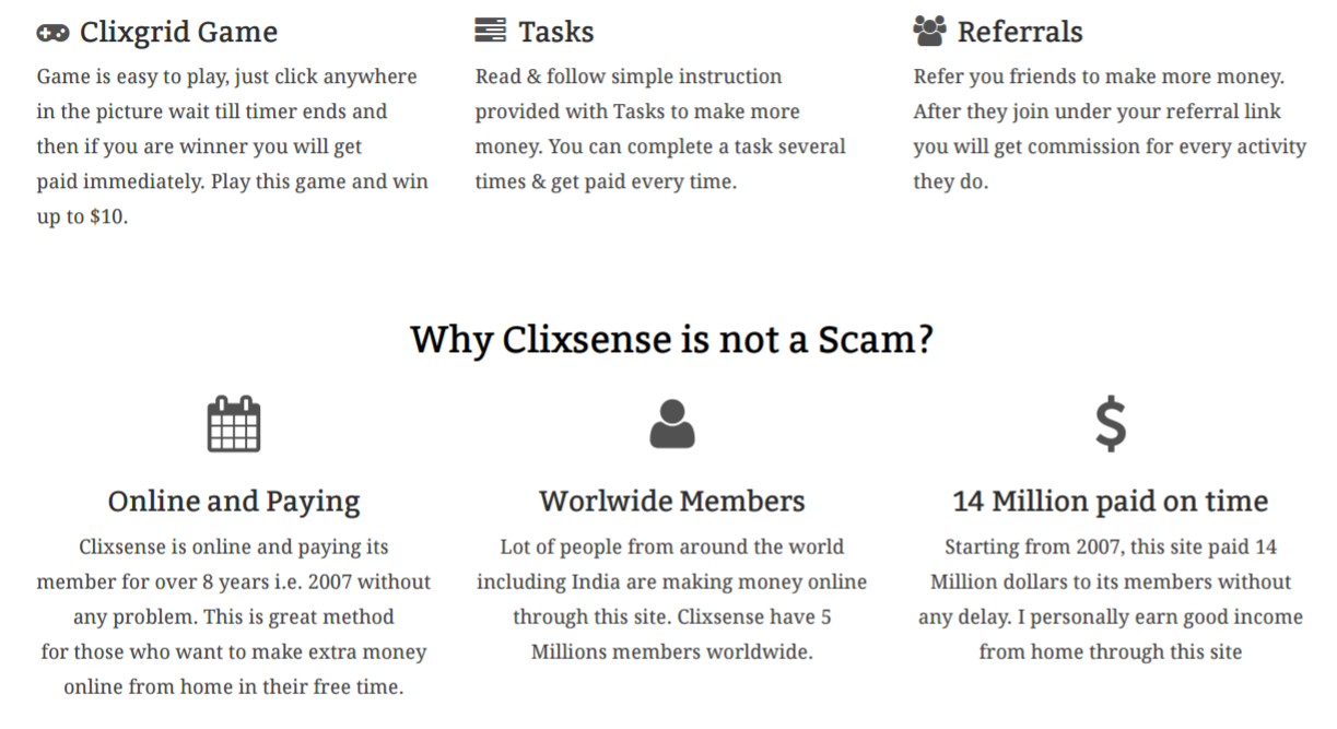 earn money online with clixsense