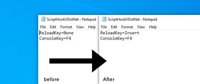 Make to change value of ScriptHookVDotNet - Make custom value for ReloadKey/ConsoleKey in Community Script Hook V (dot)Net