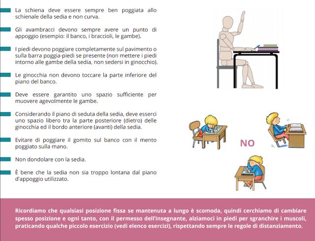 disposizioni anti Covid 19 ed ergonomia scolastica