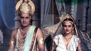 arun govil and deepika chikkhalia n 'Ramayana'